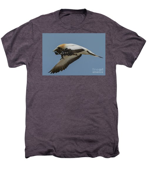 Men's Premium T-Shirt featuring the photograph Gannets 1 by Werner Padarin