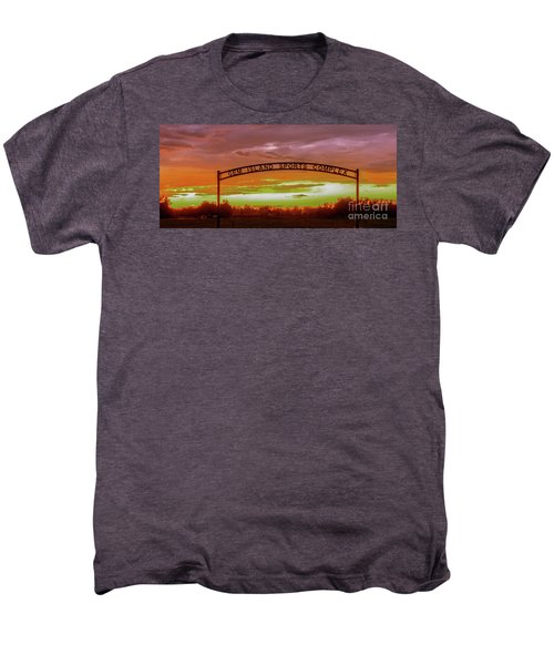 Gem Island Sports Complex Men's Premium T-Shirt by Robert Bales