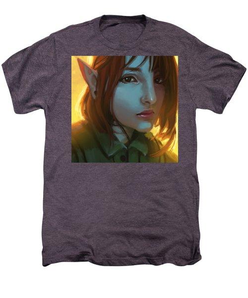 Giovana The Elf Men's Premium T-Shirt by Leonardo Batista Torres