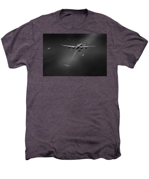 Men's Premium T-Shirt featuring the photograph Goner From Dambuster J-johnny Bw Version by Gary Eason