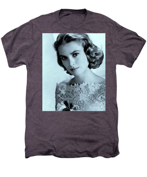 Grace Kelly Men's Premium T-Shirt by Lulu Escudero