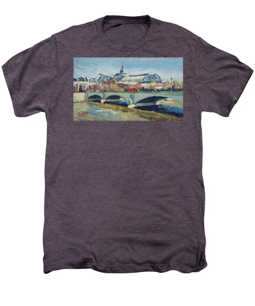 Grand Palace In Winter Paris Men's Premium T-Shirt