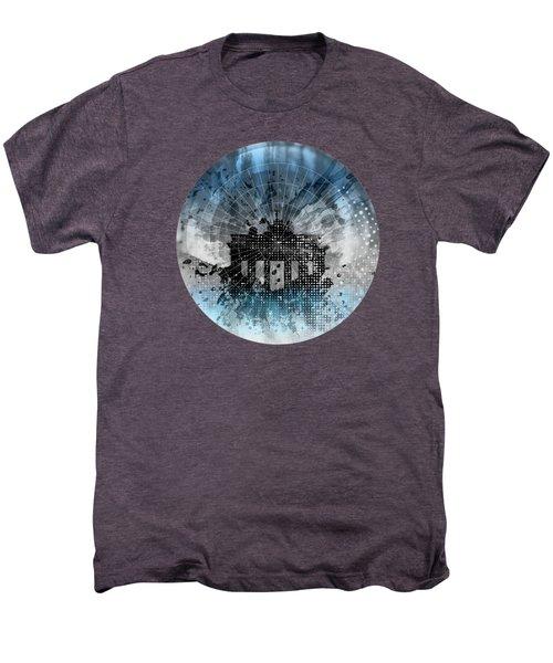 Graphic Art Berlin Brandenburg Gate Men's Premium T-Shirt by Melanie Viola