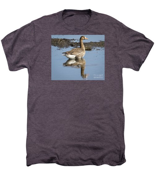 Men's Premium T-Shirt featuring the photograph Great White Fronted Goose by Ricky L Jones