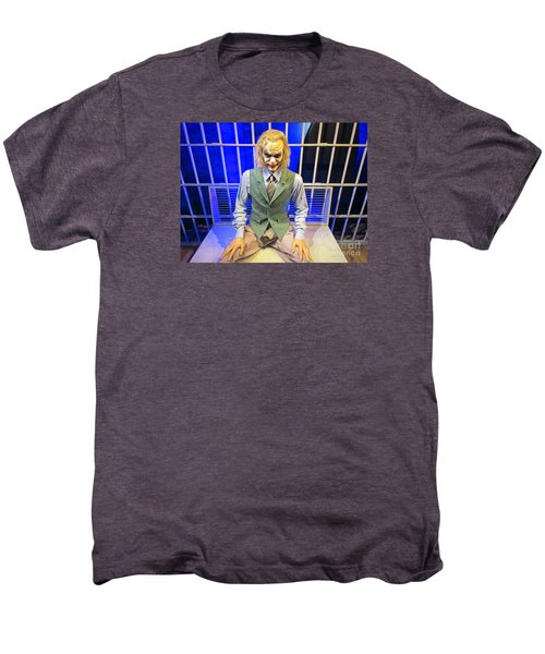 Heath Ledger As The Joker Men's Premium T-Shirt by John Malone