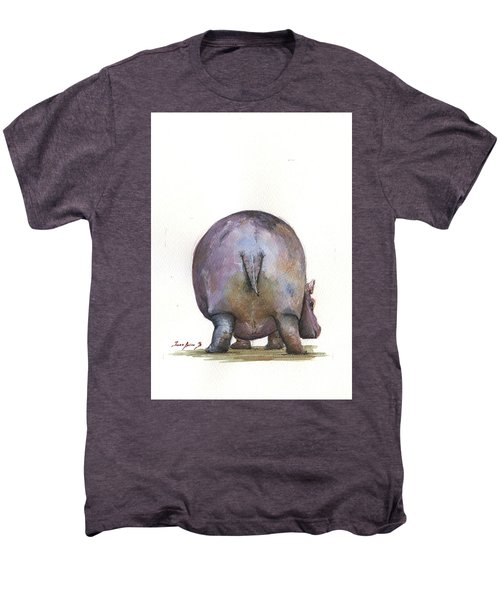 Hippo Back Men's Premium T-Shirt