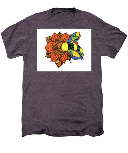 Honeybee On A Flower Men's Premium T-Shirt