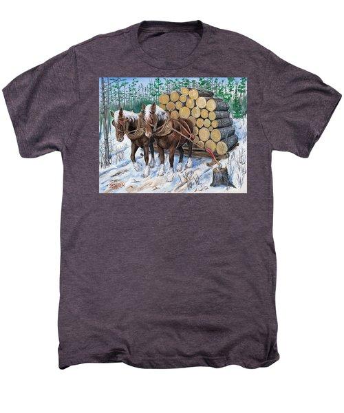 Horse Log Team Men's Premium T-Shirt