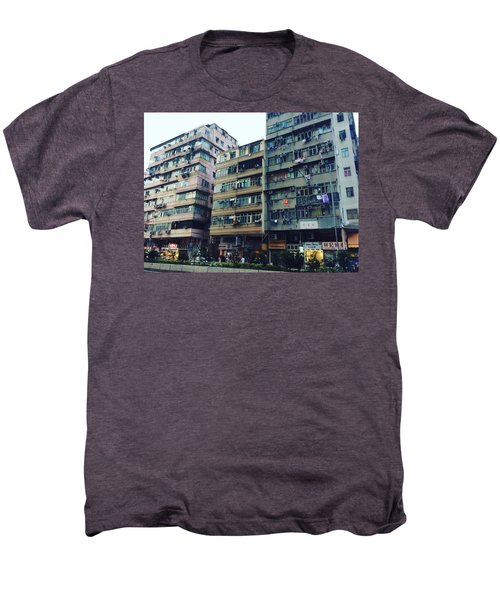 Houses Of Kowloon Men's Premium T-Shirt by Florian Wentsch