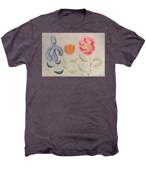 Men's Premium T-Shirt featuring the painting Imagined Flowers Two by Rod Ismay