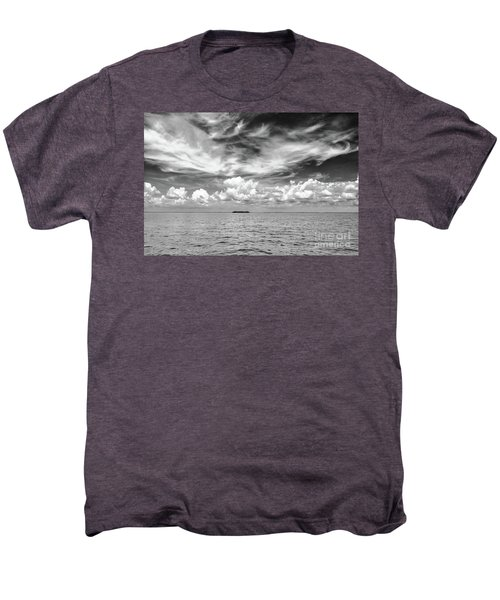 Island, Clouds, Sky, Water Men's Premium T-Shirt