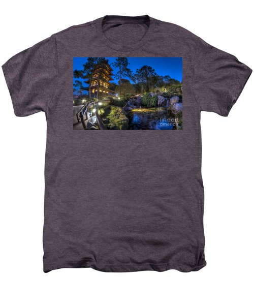 Japan Epcot Pavilion By Night. Men's Premium T-Shirt