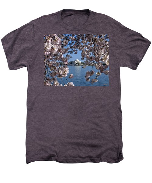 Jefferson Memorial On The Tidal Basin Ds051 Men's Premium T-Shirt by Gerry Gantt
