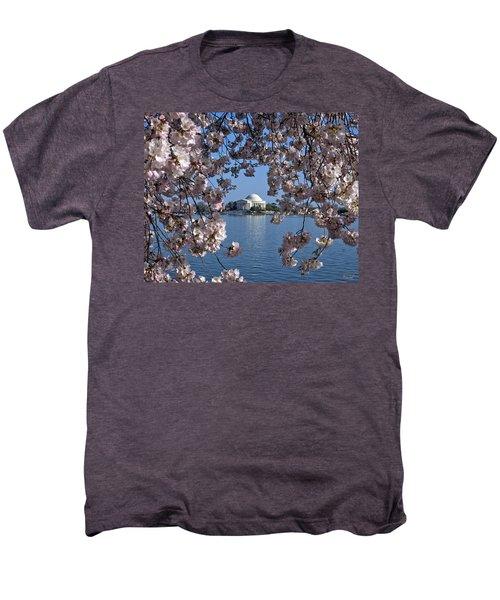 Jefferson Memorial On The Tidal Basin Ds051 Men's Premium T-Shirt by Gerry Gantt