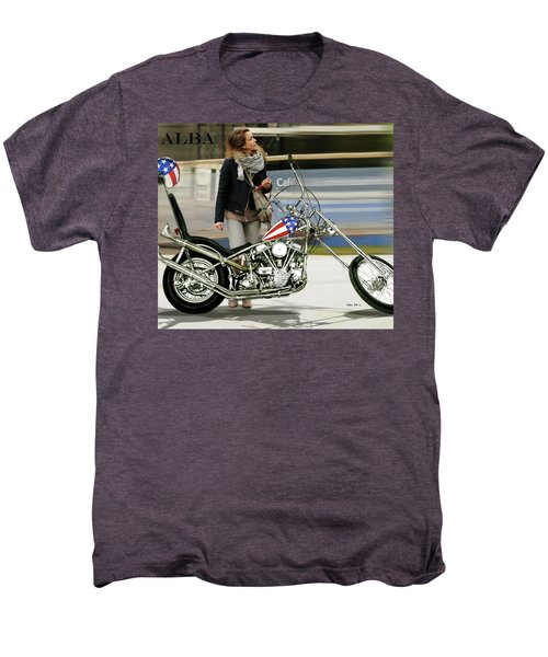 Jessica Alba, Captain America, Easy Rider Men's Premium T-Shirt