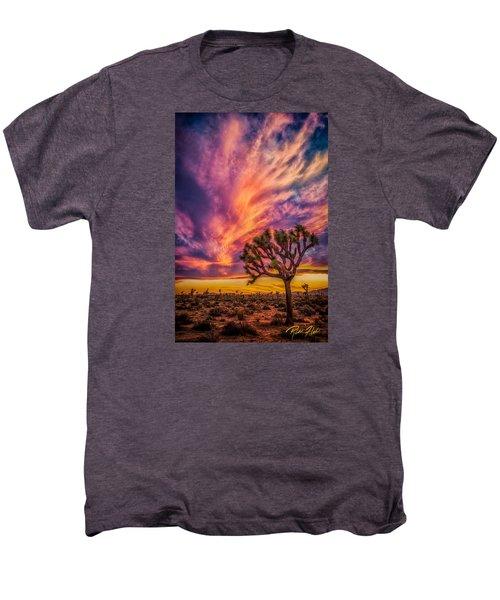Joshua Tree In The Glowing Swirls Men's Premium T-Shirt