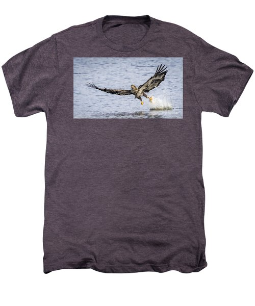 Juvenile Bald Eagle Fishing Men's Premium T-Shirt by Ricky L Jones