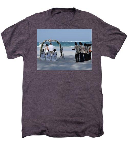 Kenya Wedding On Beach Happy Couple Men's Premium T-Shirt