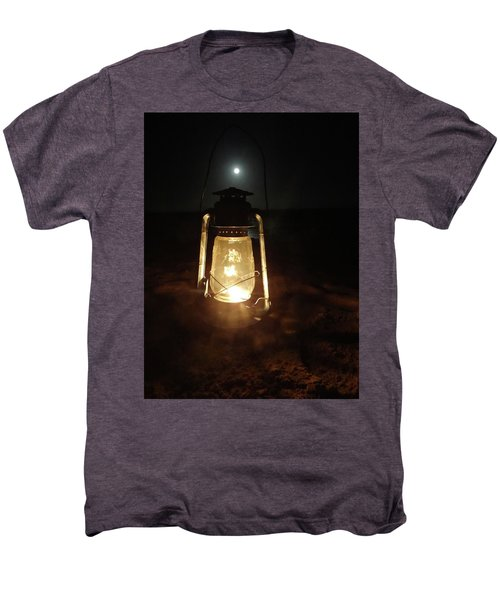 Kerosine Lantern In The Moonlight Men's Premium T-Shirt by Exploramum Exploramum