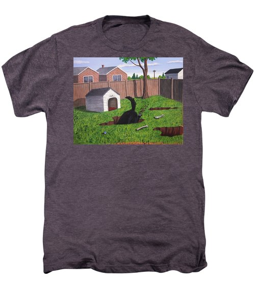 Lady Digs In The Backyard Men's Premium T-Shirt