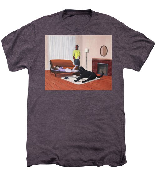 Lady Pulling Mommy Off The Couch Men's Premium T-Shirt
