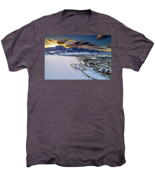 Men's Premium T-Shirt featuring the photograph Lake Dillon Sunset by Sebastian Musial