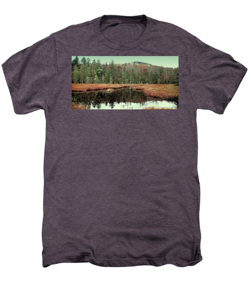 Men's Premium T-Shirt featuring the photograph Last Of Autumn On Fly Pond by David Patterson