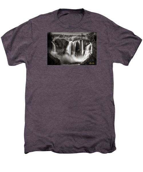Men's Premium T-Shirt featuring the photograph Late Afternoon At The High Falls by Rikk Flohr