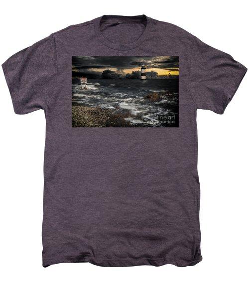 Lighthouse Storm Men's Premium T-Shirt