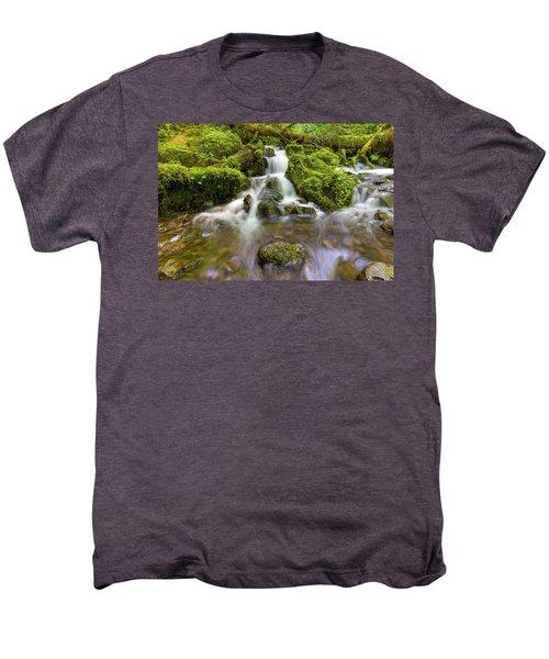 Little Waterfalls Along Wahkeena Creek Men's Premium T-Shirt