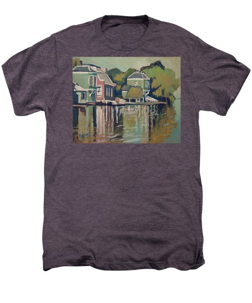 Lofts Along The River Zaan In Zaandam Men's Premium T-Shirt