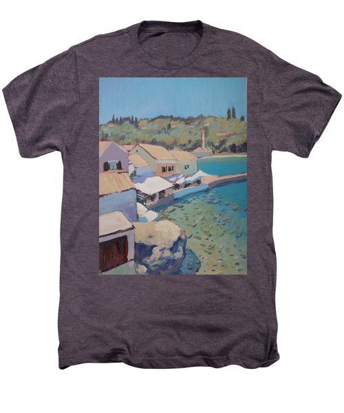 Loggos Pier View Men's Premium T-Shirt by Nop Briex