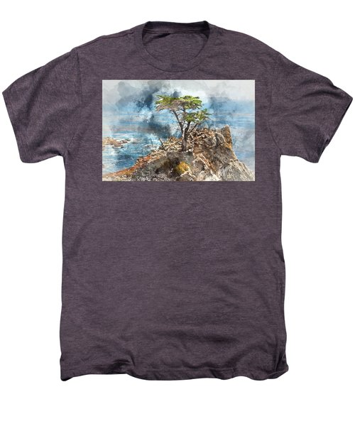 Lone Cypress In Monterey California Men's Premium T-Shirt