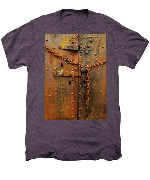 Long Locked Iron Door Men's Premium T-Shirt