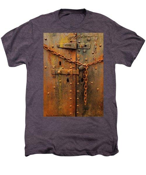 Long Locked Iron Door Men's Premium T-Shirt