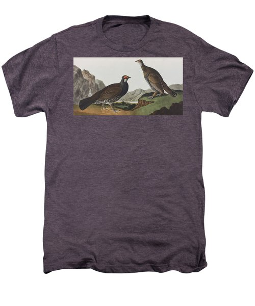 Long-tailed Or Dusky Grous Men's Premium T-Shirt by John James Audubon