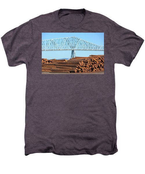 Lumber Mill In Rainier Oregon Men's Premium T-Shirt
