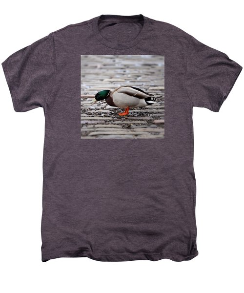 Men's Premium T-Shirt featuring the photograph Lunch Time by Jeremy Lavender Photography