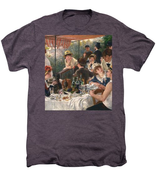 Luncheon Of The Boating Party By Renoir Men's Premium T-Shirt