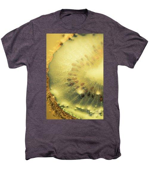 Macro Shot Of Submerged Kiwi Fruit Men's Premium T-Shirt by Jorgo Photography - Wall Art Gallery
