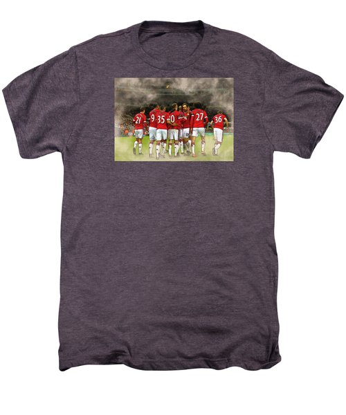 Manchester United  In Action  Men's Premium T-Shirt by Don Kuing