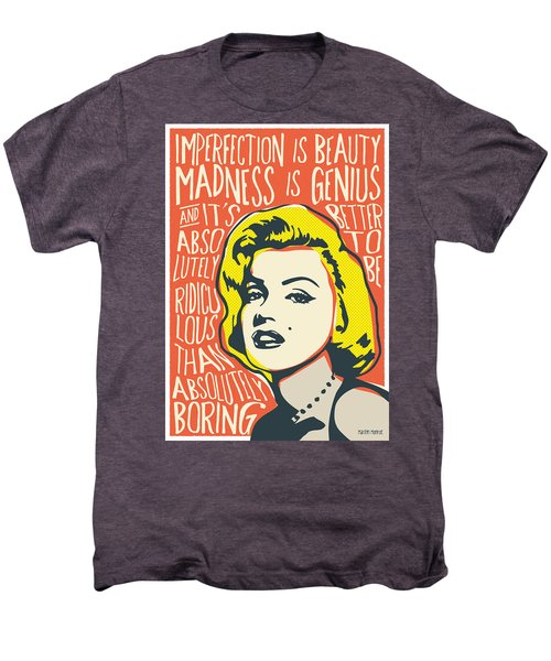 Marilyn Monroe Pop Art Quote Men's Premium T-Shirt