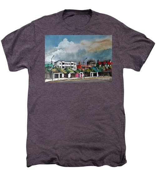 F  732 Martello Tower Bray Seafront Wicklow.. Men's Premium T-Shirt