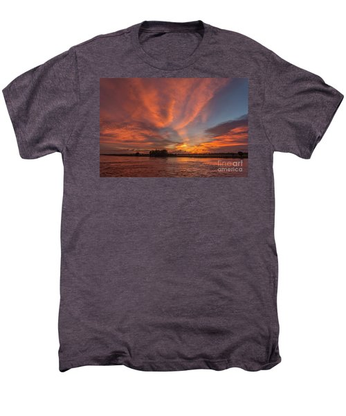 Men's Premium T-Shirt featuring the photograph Mekong Sunset 3 by Werner Padarin