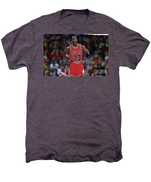Michael Jordan, Number 23, Chicago Bulls Men's Premium T-Shirt by Thomas Pollart