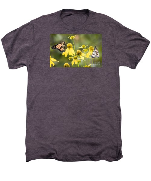 Men's Premium T-Shirt featuring the photograph Monarchs Of Wisconsin by Ricky L Jones