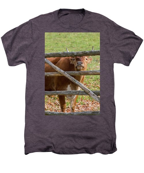 Men's Premium T-Shirt featuring the photograph Moo by Bill Wakeley