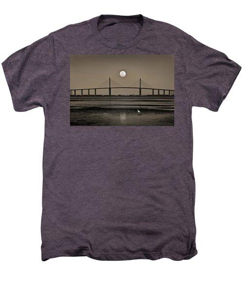 Moonrise Over Skyway Bridge Men's Premium T-Shirt