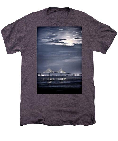 Moonrise Over Sunshine Skyway Bridge Men's Premium T-Shirt