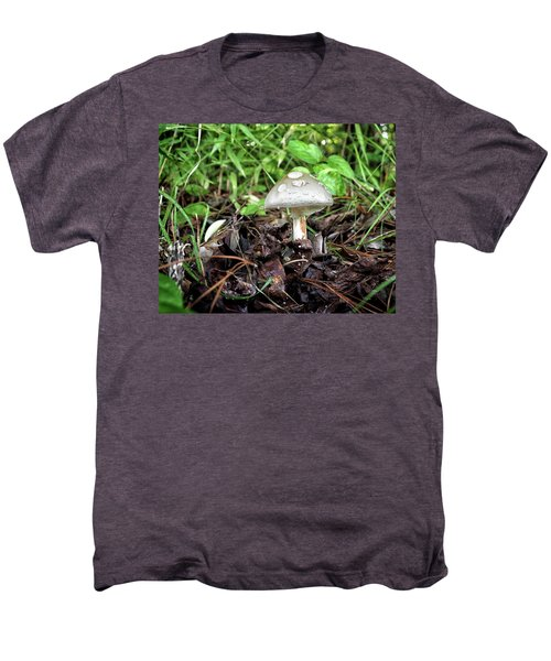 Men's Premium T-Shirt featuring the photograph Mushroom, Toadstool Or Just A Fun Guy by Bill Swartwout Fine Art Photography